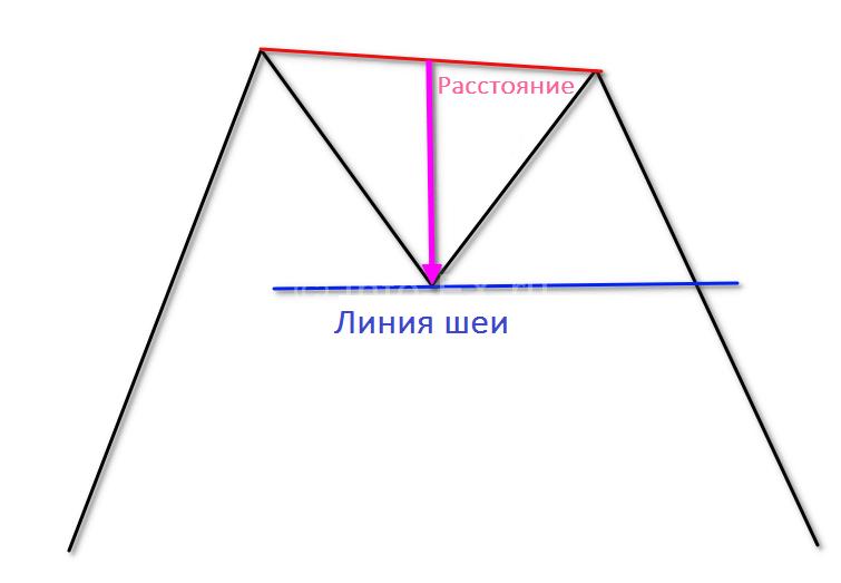 Расстояние до линии шеи